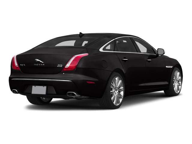 Ultimate Black Metallic 2015 Jaguar XJ Pictures XJ Sedan 4D L Supercharged Speed V8 photos rear view