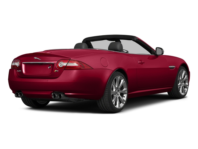 Carnelian Red Metallic 2015 Jaguar XK Pictures XK Convertible 2D XKR V8 Supercharged photos rear view