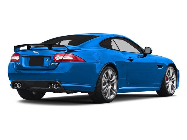 French Racing Blue 2015 Jaguar XK Pictures XK Coupe 2D XKR-S V8 Supercharged photos rear view