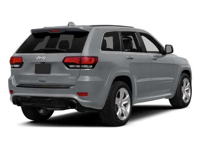 Billet Silver Metallic Clearcoat 2015 Jeep Grand Cherokee Pictures Grand Cherokee Utility 4D SRT-8 4WD photos rear view