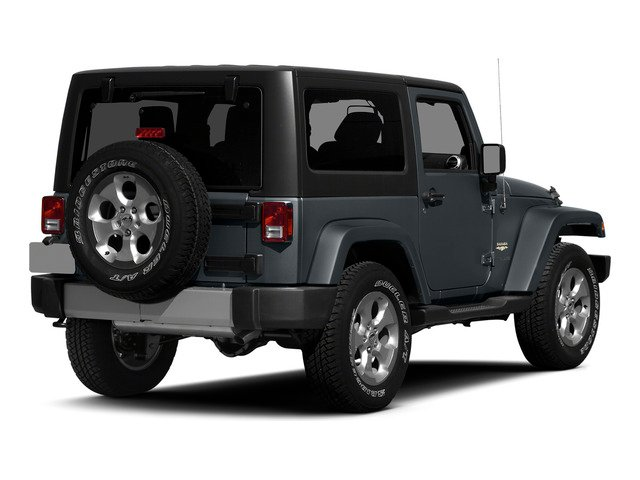 Anvil Clearcoat 2015 Jeep Wrangler Pictures Wrangler Utility 2D Sahara 4WD V6 photos rear view