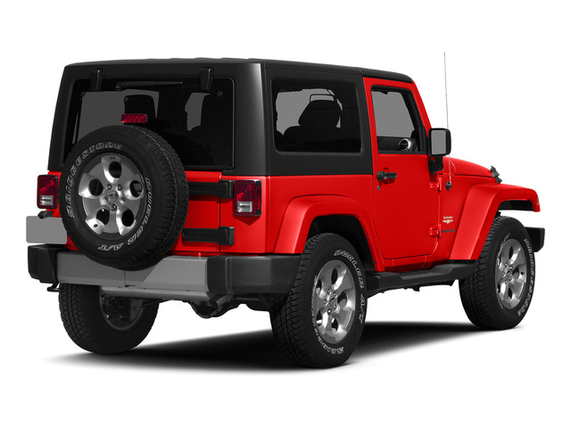 Firecracker Red Clear Coat 2015 Jeep Wrangler Pictures Wrangler Utility 2D Sahara 4WD V6 photos rear view