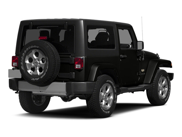 Black Clearcoat 2015 Jeep Wrangler Pictures Wrangler Utility 2D Sahara 4WD V6 photos rear view
