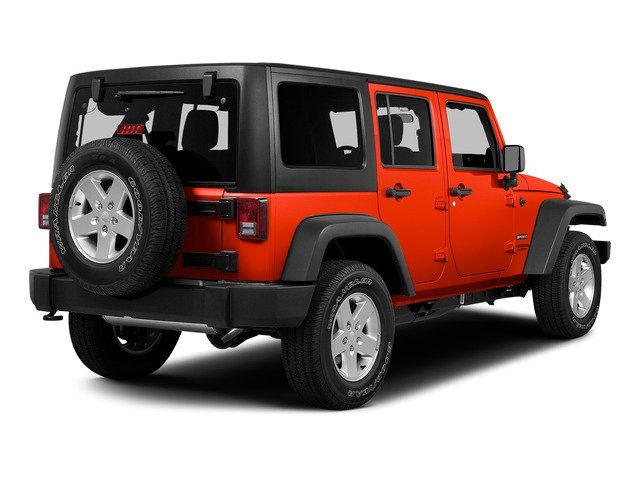 Firecracker Red Clear Coat 2015 Jeep Wrangler Unlimited Pictures Wrangler Unlimited Utility 4D Unlimited Rubicon 4WD V6 photos rear view