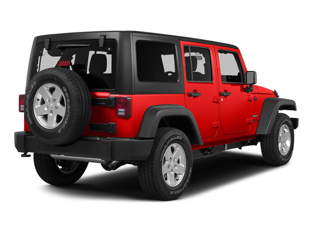 Firecracker Red Clear Coat 2015 Jeep Wrangler Unlimited Pictures Wrangler Unlimited Utility 4D Unlimited Sport 4WD V6 photos rear view