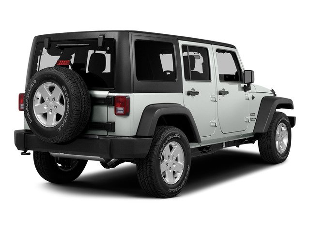 Bright White Clearcoat 2015 Jeep Wrangler Unlimited Pictures Wrangler Unlimited Utility 4D Unlimited Sport 4WD V6 photos rear view