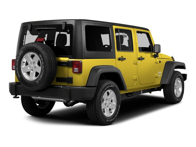 Baja Yellow Clearcoat 2015 Jeep Wrangler Unlimited Pictures Wrangler Unlimited Utility 4D Unlimited Sport 4WD V6 photos rear view
