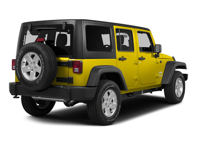 Baja Yellow Clearcoat 2015 Jeep Wrangler Unlimited Pictures Wrangler Unlimited Utility 4D Unlimited Rubicon 4WD V6 photos rear view