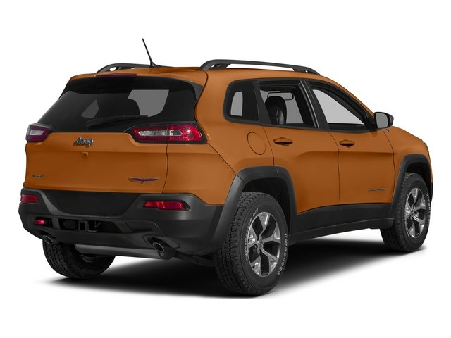 Mango Tango Pearlcoat 2015 Jeep Cherokee Pictures Cherokee Utility 4D Trailhawk 4WD photos rear view