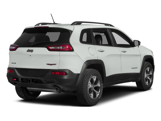 Bright White Clearcoat 2015 Jeep Cherokee Pictures Cherokee Utility 4D Trailhawk 4WD photos rear view