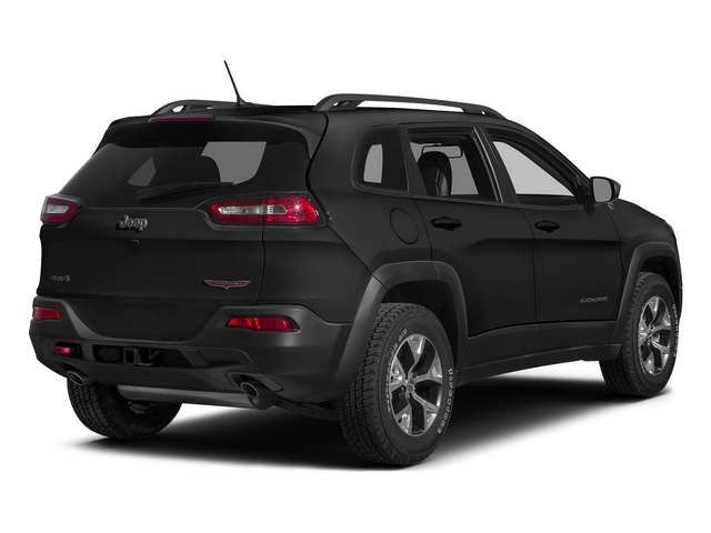 Brilliant Black Crystal Pearlcoat 2015 Jeep Cherokee Pictures Cherokee Utility 4D Trailhawk 4WD photos rear view