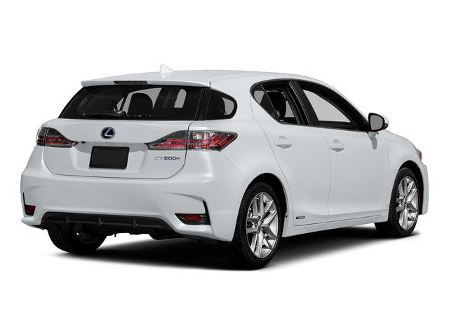 Ultra White w/Black Roof 2015 Lexus CT 200h Pictures CT 200h Hatchback 5D CT200h I4 Hybrid photos rear view