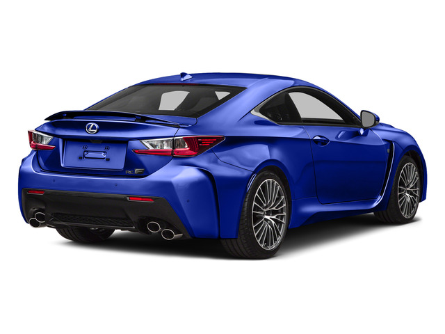 Ultrasonic Blue Mica 2.0 2015 Lexus RC F Pictures RC F Coupe 2D RC-F V8 photos rear view