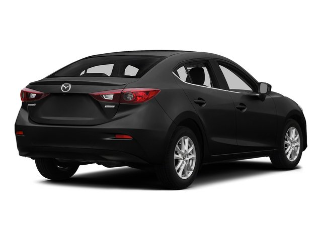 Jet Black Mica 2015 Mazda Mazda3 Pictures Mazda3 Sedan 4D i Sport I4 photos rear view