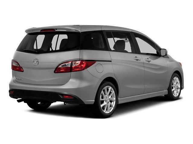 Liquid Silver Metallic 2015 Mazda Mazda5 Pictures Mazda5 Wagon 5D Sport I4 photos rear view