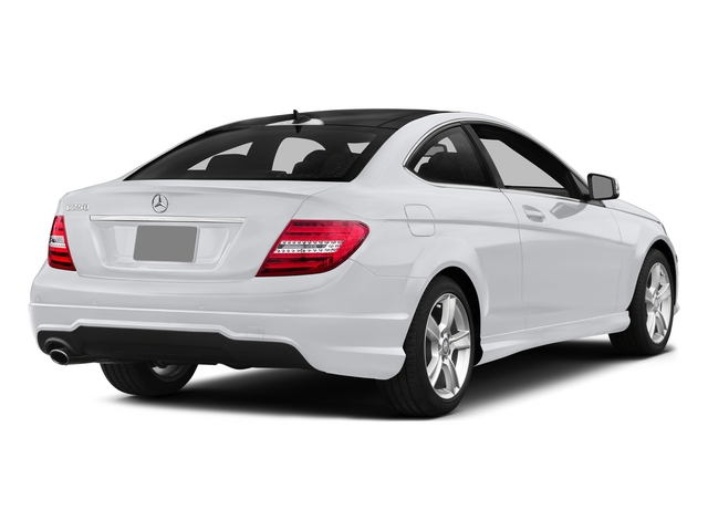 Polar White 2015 Mercedes-Benz C-Class Pictures C-Class Coupe 2D C250 I4 Turbo photos rear view