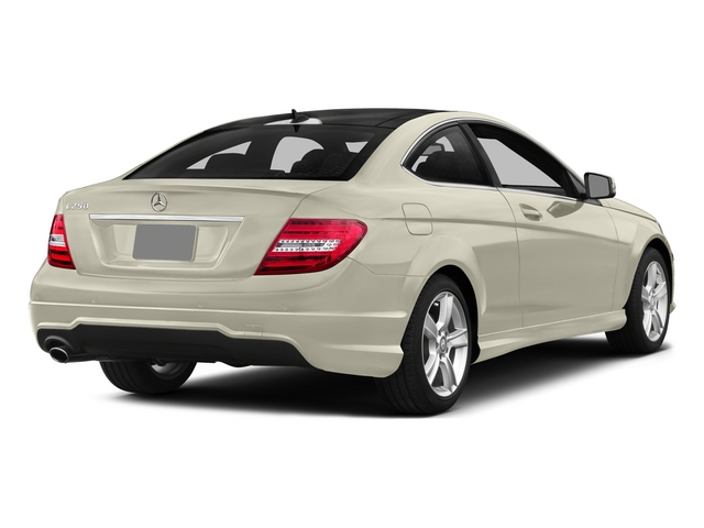 Diamond White Metallic 2015 Mercedes-Benz C-Class Pictures C-Class Coupe 2D C250 I4 Turbo photos rear view