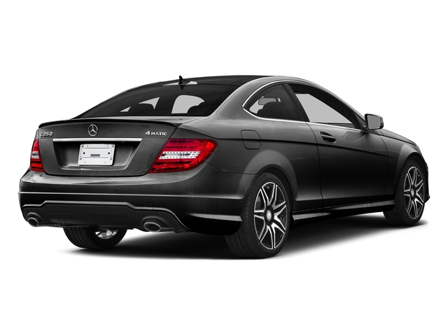 Obsidian Black Metallic 2015 Mercedes-Benz C-Class Pictures C-Class Coupe 2D C350 V6 photos rear view