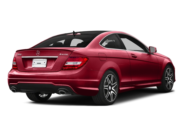 Mars Red 2015 Mercedes-Benz C-Class Pictures C-Class Coupe 2D C350 V6 photos rear view