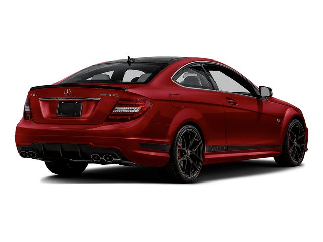 Mars Red 2015 Mercedes-Benz C-Class Pictures C-Class Coupe 2D C63 AMG V8 photos rear view