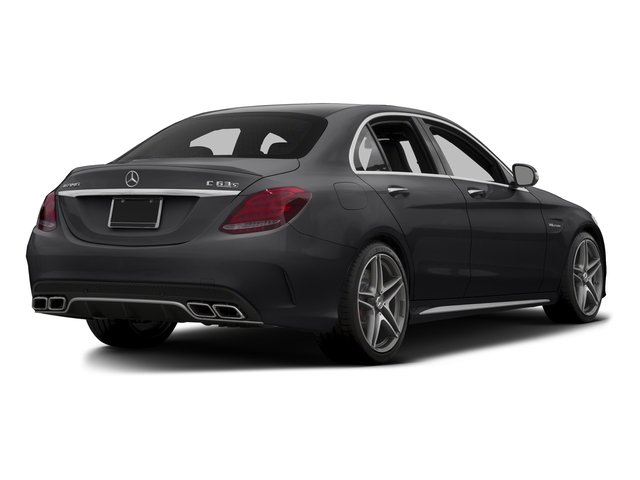Black 2015 Mercedes-Benz C-Class Pictures C-Class Sedan 4D C63 AMG S V8 Turbo photos rear view
