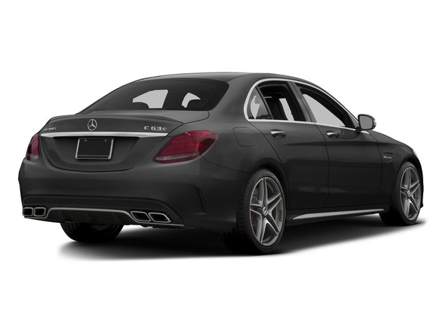 Obsidian Black Metallic 2015 Mercedes-Benz C-Class Pictures C-Class Sedan 4D C63 AMG V8 Turbo photos rear view