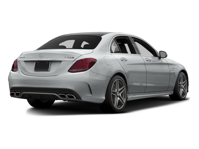 Iridium Silver Metallic 2015 Mercedes-Benz C-Class Pictures C-Class Sedan 4D C63 AMG V8 Turbo photos rear view