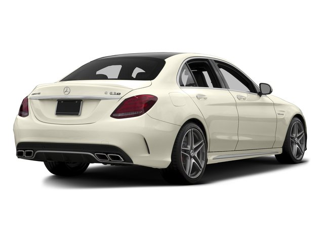 Diamond White Metallic 2015 Mercedes-Benz C-Class Pictures C-Class Sedan 4D C63 AMG V8 Turbo photos rear view