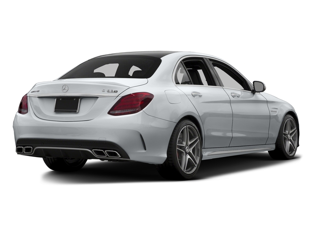 Diamond Silver Metallic 2015 Mercedes-Benz C-Class Pictures C-Class Sedan 4D C63 AMG S V8 Turbo photos rear view