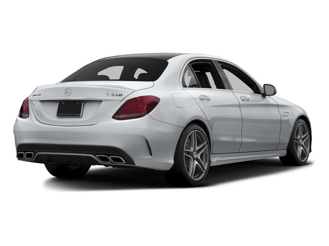 Diamond Silver Metallic 2015 Mercedes-Benz C-Class Pictures C-Class Sedan 4D C63 AMG V8 Turbo photos rear view
