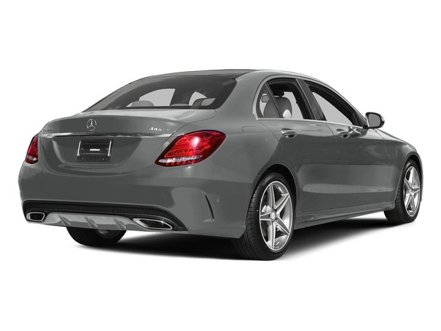 Palladium Silver Metallic 2015 Mercedes-Benz C-Class Pictures C-Class Sedan 4D C400 AWD V6 Turbo photos rear view