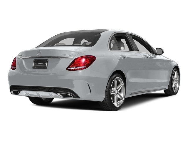 Diamond Silver Metallic 2015 Mercedes-Benz C-Class Pictures C-Class Sedan 4D C400 AWD V6 Turbo photos rear view