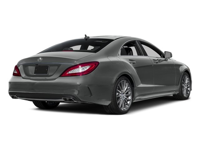 Palladium Silver Metallic 2015 Mercedes-Benz CLS-Class Pictures CLS-Class Sedan 4D CLS550 V8 Turbo photos rear view