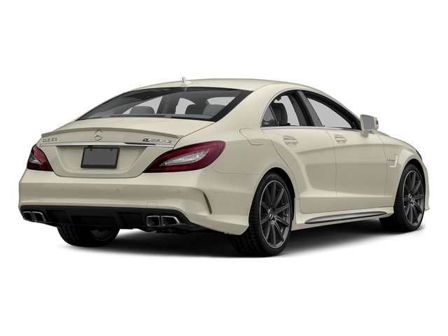 designo Diamond White Metallic 2015 Mercedes-Benz CLS-Class Pictures CLS-Class Sedan 4D CLS63 AMG S AWD V8 photos rear view
