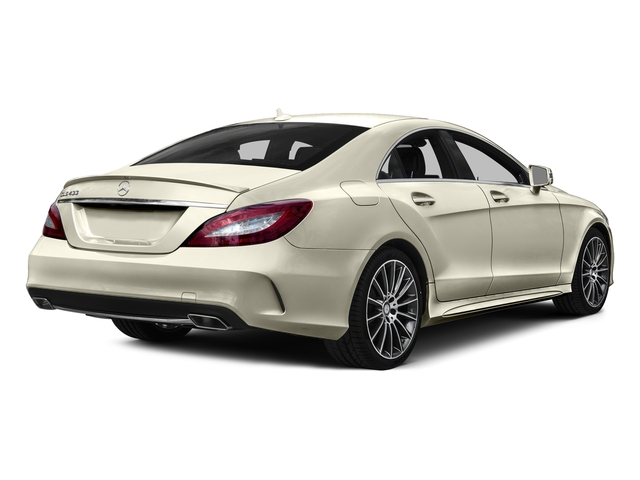designo Diamond White Metallic 2015 Mercedes-Benz CLS-Class Pictures CLS-Class Sedan 4D CLS400 AWD V6 Turbo photos rear view