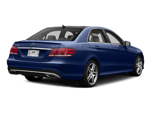 Indigo Blue Metallic 2015 Mercedes-Benz E-Class Pictures E-Class Sedan 4D E400 V6 Turbo photos rear view