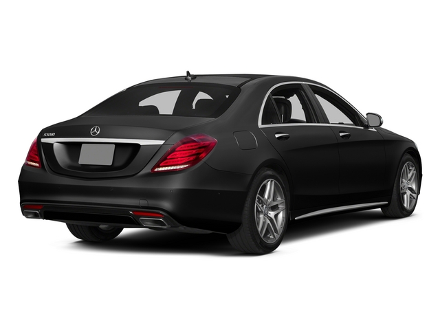 Obsidian Black Metallic 2015 Mercedes-Benz S-Class Pictures S-Class Sedan 4D S550 AWD V8 photos rear view