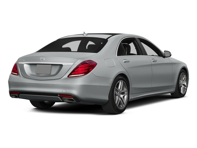 Iridium Silver Metallic 2015 Mercedes-Benz S-Class Pictures S-Class Sedan 4D S550 AWD V8 photos rear view
