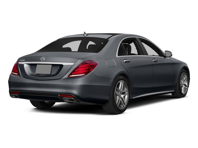 Anthracite Blue Metallic 2015 Mercedes-Benz S-Class Pictures S-Class Sedan 4D S550 AWD V8 photos rear view