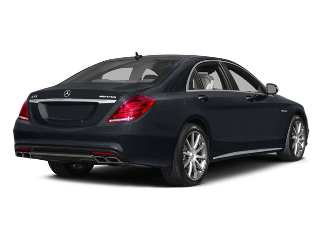 Anthracite Blue Metallic 2015 Mercedes-Benz S-Class Pictures S-Class Sedan 4D S63 AMG AWD V8 Turbo photos rear view