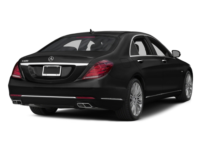 Obsidian Black Metallic 2015 Mercedes-Benz S-Class Pictures S-Class Sedan 4D S600 V12 photos rear view