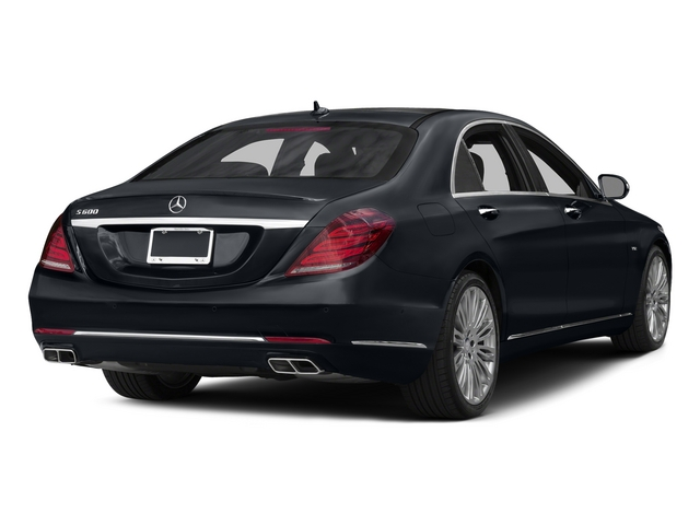 Anthracite Blue Metallic 2015 Mercedes-Benz S-Class Pictures S-Class Sedan 4D S600 V12 photos rear view