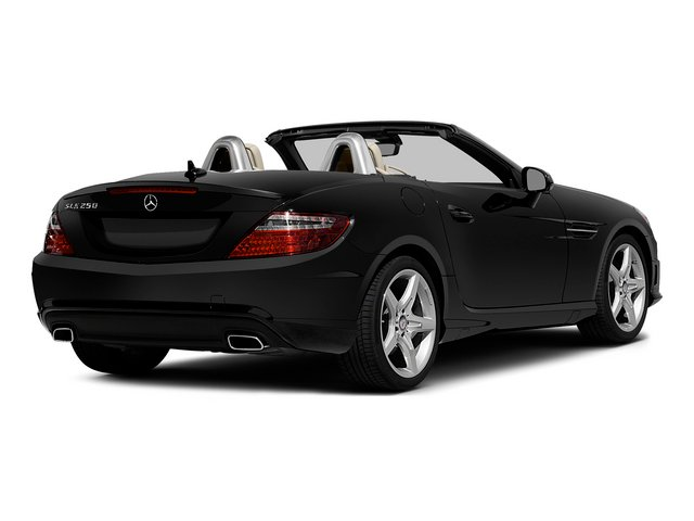 Obsidian Black Metallic 2015 Mercedes-Benz SLK-Class Pictures SLK-Class Roadster 2D SLK250 I4 Turbo photos rear view