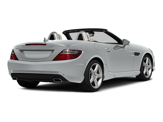 Iridium Silver Metallic 2015 Mercedes-Benz SLK-Class Pictures SLK-Class Roadster 2D SLK250 I4 Turbo photos rear view