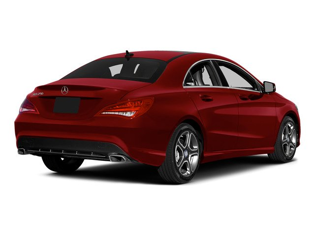 Jupiter Red 2015 Mercedes-Benz CLA-Class Pictures CLA-Class Sedan 4D CLA250 AWD I4 Turbo photos rear view