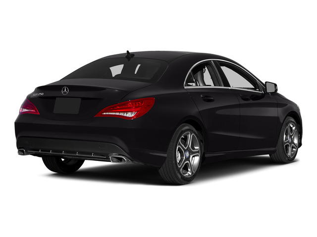 Night Black 2015 Mercedes-Benz CLA-Class Pictures CLA-Class Sedan 4D CLA250 AWD I4 Turbo photos rear view
