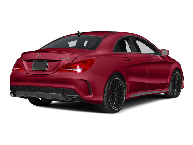 Jupiter Red 2015 Mercedes-Benz CLA-Class Pictures CLA-Class Sedan 4D CLA45 AMG AWD I4 Turbo photos rear view