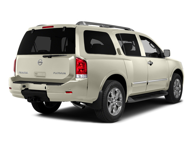 Pearl White 2015 Nissan Armada Pictures Armada Utility 4D Platinum Reserve 4WD V8 photos rear view