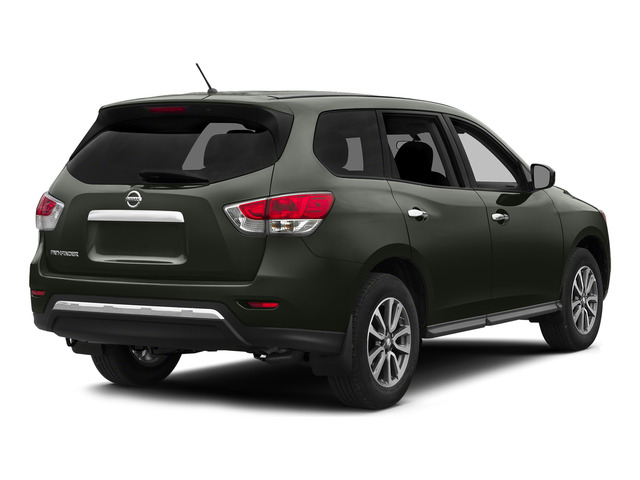 Midnight Jade 2015 Nissan Pathfinder Pictures Pathfinder Utility 4D S 4WD V6 photos rear view