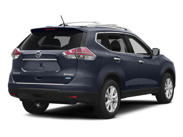 Arctic Blue Metallic 2015 Nissan Rogue Pictures Rogue Utility 4D SV AWD I4 photos rear view
